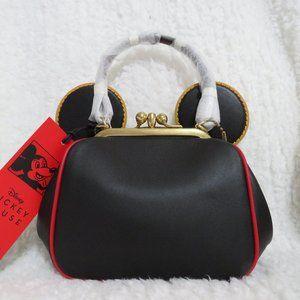 Coach Disney Keith Haring Leather Kisslock Bag